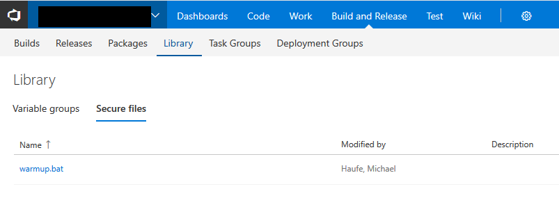 VSTS Library